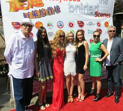 Signing Ceremony Raleigh Studios.  Hollywood Behind the Scenes Cast & Crew, Monty Bane, Producer - Kimberley Kates, Mozart Dee, Mary Antonovich, Lily Lisa, Bruce Lee