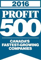 Canada's Fastest-Growing Companies on the 2016 PROFIT 500