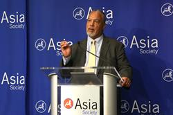 Dr. Anthony Jackson, Vice President for Education at Asia Society, speaks at the launch of the Center for Global Education at Asia Society in New York on September 22, 2016. (Ellen Wallop/Asia Society)