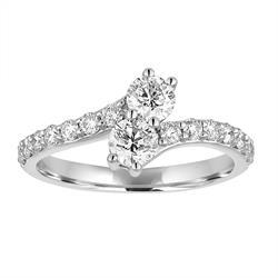 Bailey Banks & Biddle Jewelers Now & Always Two Stone Diamond Ring.