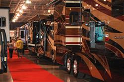 Massive motorhomes and more will be on display at the 27th Annual Fall Detroit Camper & RV Show, October 5-9, at Suburban Collection Showplace, Novi, Mich.