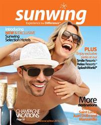 Dépliant Sunwing 2016/2017