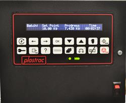 Plastrac batch system software for GA series All Fed Blenders