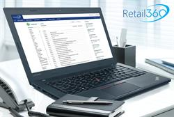 Retail360 Cloud-based (SaaS) Retail Back-office Software Interface