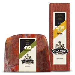 The Black Kassel brand of deli meats is expanding its reach in the U.S., with new products and packaging. The Black Kassel brand, produced by Piller's Fine Foods, uses old-world techniques and recipes, and includes salamis available at the Deli counter, specialty items, and pre-packaged sliced meats.