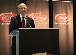 Gay Lea Foods Chair, Steve Dolson, addressed the Co-operative's 2017 Annual General Meeting in Mississauga, Ontario on January 24, 2017.
