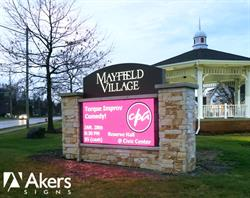 Mayfield Village LED Sign