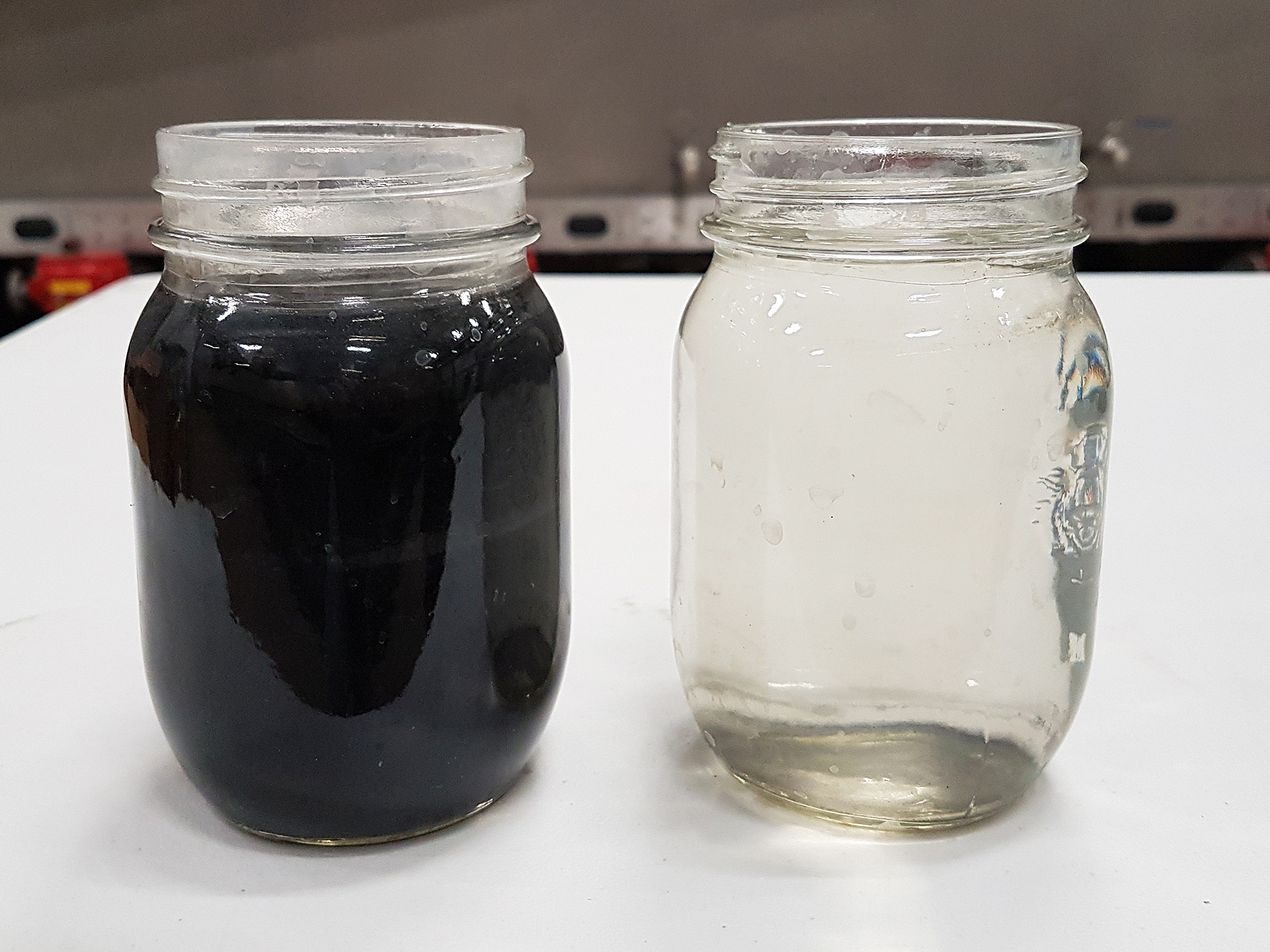 Wastewater treatment before and after