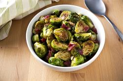 Click for Bacon Roasted Brussels Sprouts Recipe