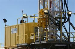 JB Hunt Rig Upon Completion at MD Cowan, Odessa, TX in 2006