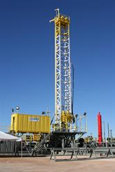 JB Hunt Rig upon completion at MD Cowan, Odessa, TX in 2006.