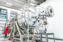 The PI3 plasma injector at General Fusion's facility in Vancouver, Canada