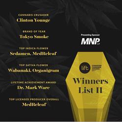 Tokyo Smoke wins Brand of the Year at Canadian Cannabis Awards