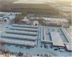 Little Prairie Lodge pictured from above in the District of Chetwynd, British Columbia. The 252-room lodge will host temporary workers servicing projects across various industries in the surrounding regions.