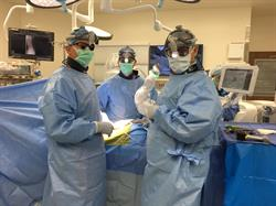 Dr. Christopher Good, Dr. Thomas Schuler, and Dr. Colin Haines perform first Maxor X System procedure in Mid-Atlantic region (at Reston Hospital Center, VA)
