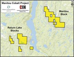 Figure 1 - Manitou Cobalt Project Map