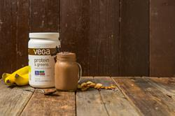 Creamy Chocolate Banana Smoothie with Vega Protein and Greens