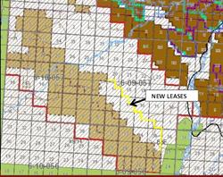 Altitude North Coal Lease Extension Location Map