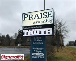 Praise Assembly LED Sign