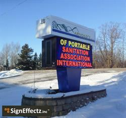 Arnold's Environmental upgraded to a full color cloud-based LED message sign from local sign company, Sign Effectz, in order to stay in touch with their on-premise marketing anytime, anywhere.