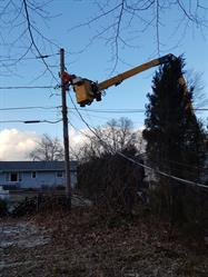 Alectra Utilities' crews in Rochester, NY this past weekend, working with Rochester Gas and Electric to restore power to customers affected by a severe windstorm.