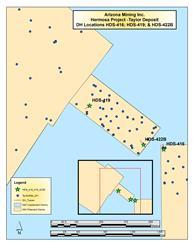 Drillhole Location Map