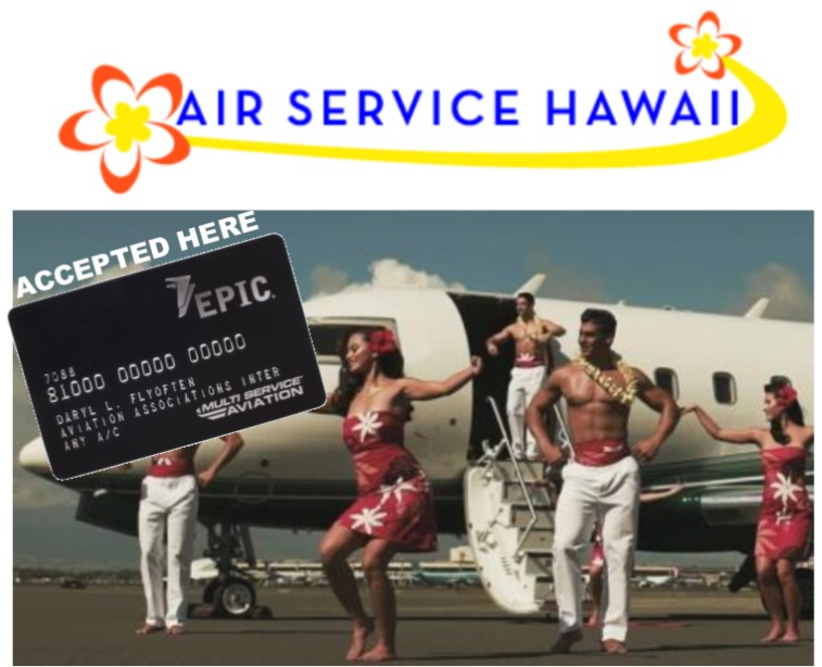 Air Service Hawaii Accepts EPIC Card
