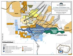 Preston Uranium Project Map