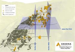 Perspective Diagram of Historic Snip Mine