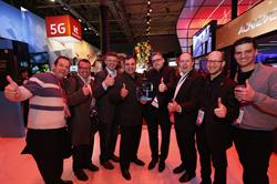 Orange and Danal celebrating their Glomo award win at MWC 2017