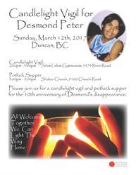 Desmond Peter Candlelight Vigil