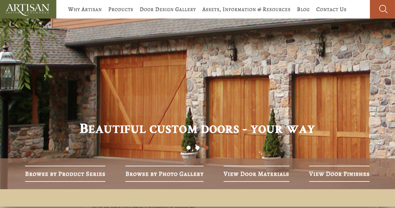 Artisan Launches New Web Site Designed Especially For