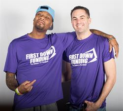 Jacoby Jones and First Down Funding Managing Partner Paul Pitcher