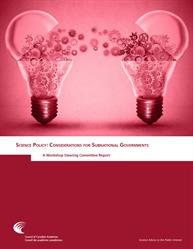Science Policy: Considerations for Subnational Governments