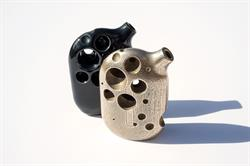 Tokyo Smoke's Crater Pipe (in stainless steel and black porcelain).