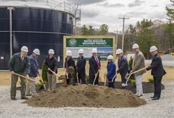 (From left to right: Rich Pollock, Town of Niskayuna Superintendent of Public Works; Kevin Jones, Energy Systems Group Project Manager; Dr. Alexander Smith, Chief of DEC's Stream Monitoring and Assessment Section and Director of the Mohawk River Basin Program; Assemblyman Phil Steck; Bill McPartlon, Town of Niskayuna Councilman; Joe Landry, Town of Niskayuna Supervisor; Lisa Weber, Town of Niskayuna Councilwoman; Tony Jasenski, Schenectady County Legislature Chair; Rich Straut, Barton & Loguidice Principal; Greg Collins, Energy Systems Group President)