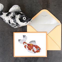 Papyrus Judith Leiber Koi Fish Greeting Card