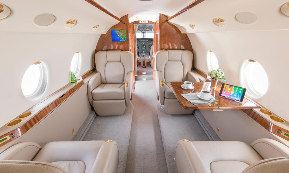 Silver Air Gulfstream G200 in Dallas