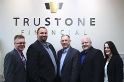 TruStone Financial TruPartner Network Team employees pictured; Tom Barkley, Aaron Gerber, Larry Lasch, Derek Bostrom and Kara Askey.