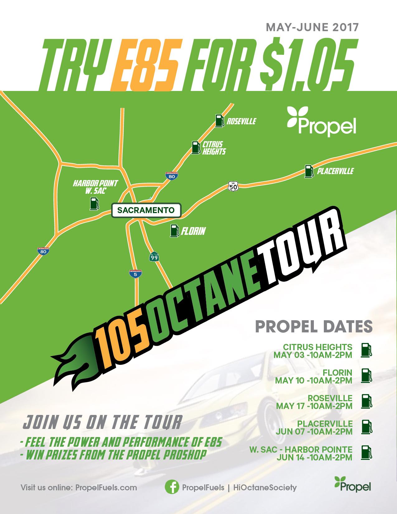 105 Octane Tour Map