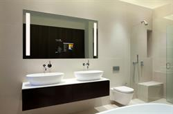 The ElectricMirror SmartMirror(TM) is perfect for hotel bathrooms and guestrooms alike.