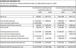 GLH Annual 2016 and Q4 2016 Adjusted EBITDA Financials