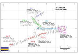 Figure 2 844m Sublevel 300 E Assay Plan