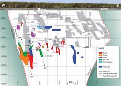 Figure 1 Eagle River Mine Reserve Longsection