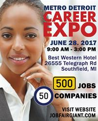 Detroit Job Expo June 28, 2017, Submit Your Resume