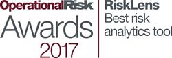 RiskLens, a Reston, Va.-based leading provider of cyber risk quantification solutions, was named Best Risk Analytics Tool by Risk Magazine at the OpRisk Awards dinner held last night at the Marriott Grosvenor Square hotel in London; the award marks the second consecutive OpRisk Award for RiskLens, named Best Cyber Risk Product at the same dinner a year ago.