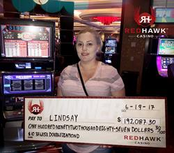 Red Hawk Casino Awards $192,087 Jackpot