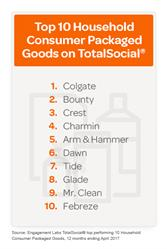 Top 10 Household Consumer Packaged Goods on TotalSocial®