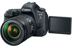 Canon EOS 6D Mark II DSLR Camera with 24-105mm and open LCD