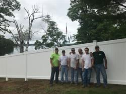 ActiveYards and Pine Tree Fence Employees Donate fence materials to Travis Mills Foundation